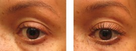 With just one coat of Chanel LeVolume Mascara Before (l), After (r)
